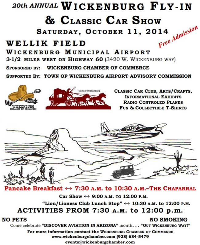 20th Annual Wickenburg Fly-In and Classic Car Show