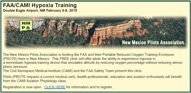 Free Hypoxia Training in Albuquerque Feb 6-8