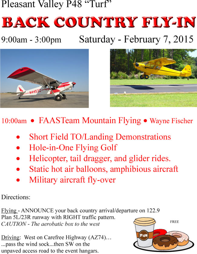 Pleasant Valley Turf P48 Backcountry Fly-In Sat Feb 7th