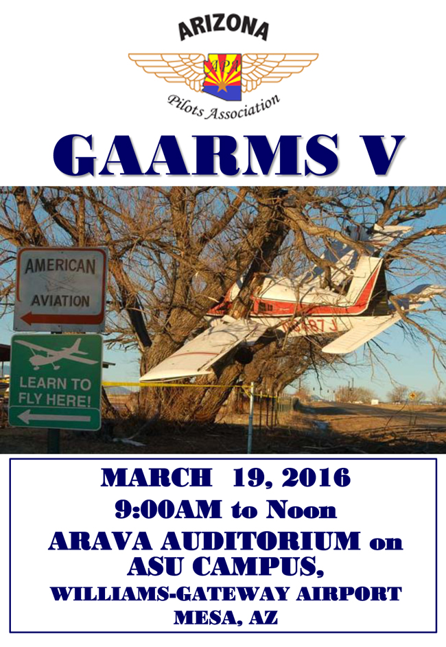 GAARMS V on March 19th at 9am - General Aviation Accident Reduction and Mitigation Symposium