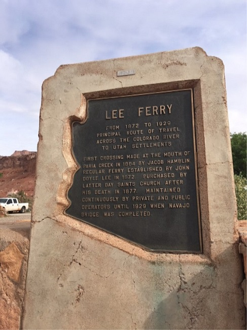 arizona airport focus marble canyon lee ferry sign