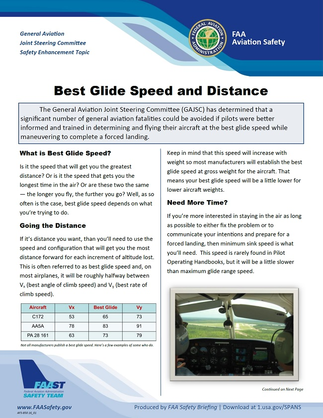 2018 11 01 faa best glide speed and distance