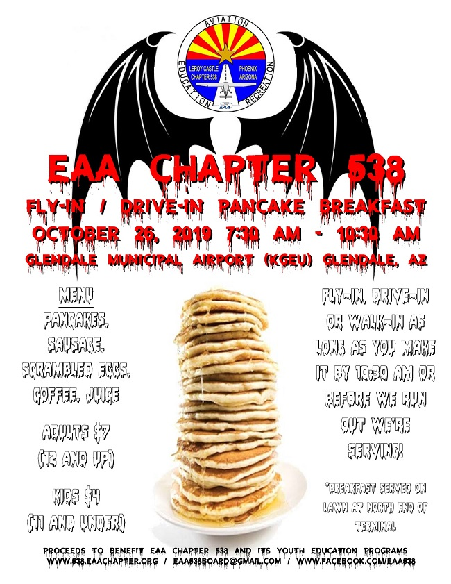 2019 10 26 eaa chapter 538 pancake breakfast