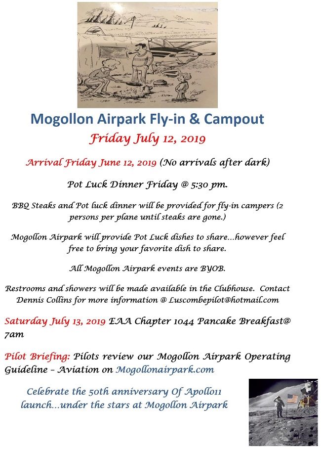 mogollon airpark fly in and campout