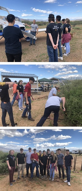 evit students volunteer at grapevine 2