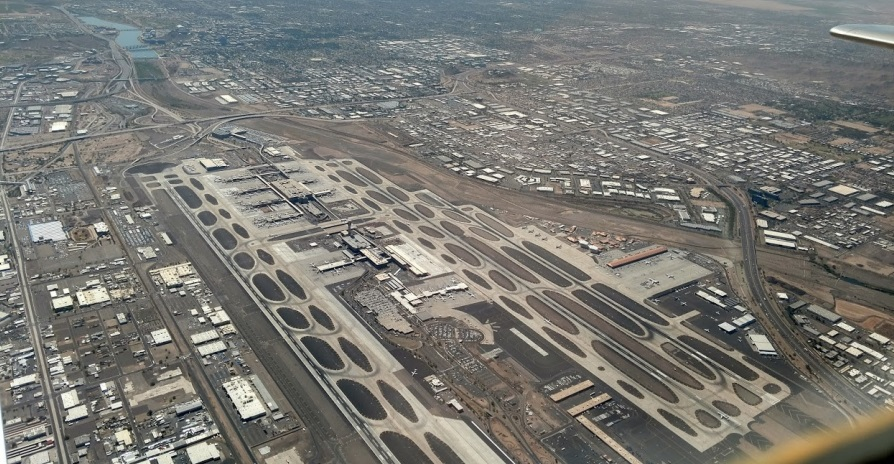 flying the sky harbor transition aerial