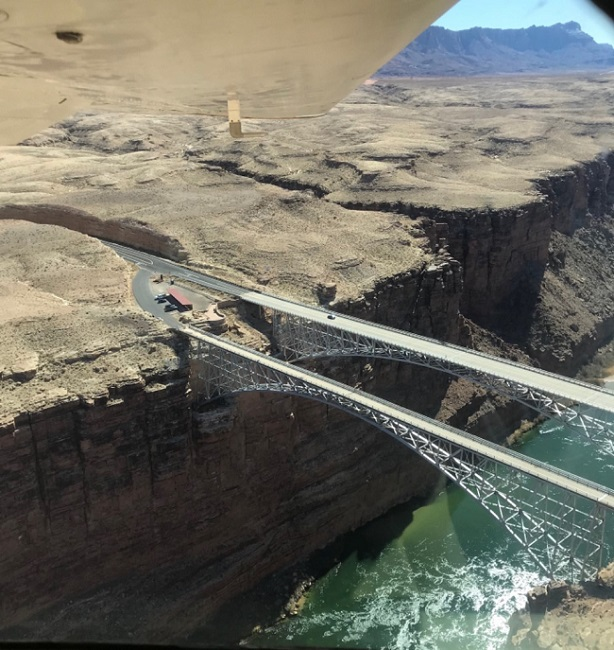 unusual paved public use airports in arizona navajo bridge over marble canyon