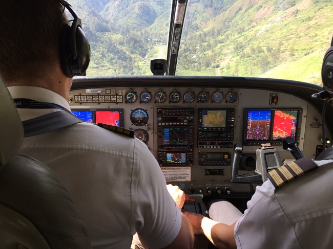 gaarms 2018 june cessna caravan on approach to ilagna papua