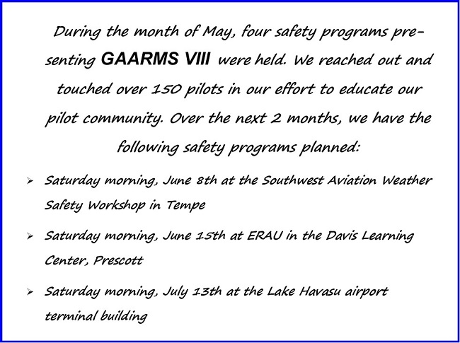 gaarms report june 2019 safety programs