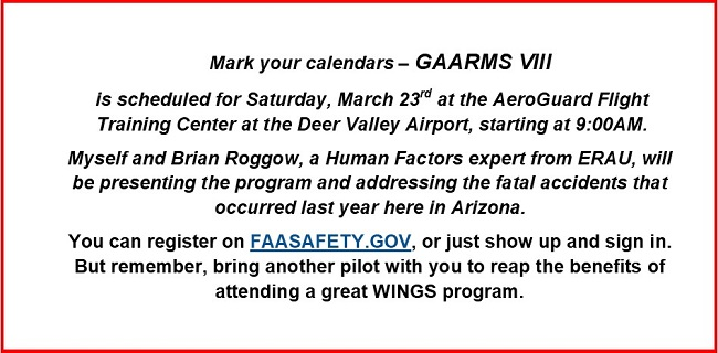 gaarms viii mark your calendars for march 23 2019